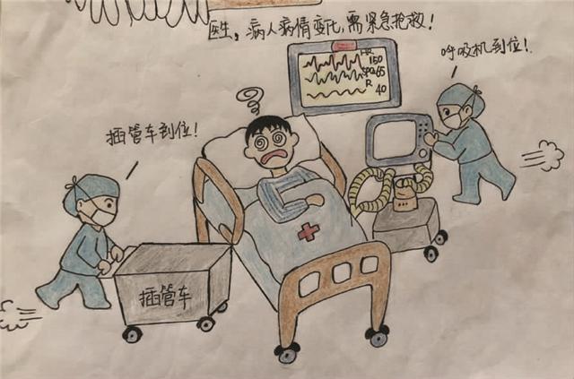 萌萌哒!桐乡一名护士手绘漫画给重症患者讲解病情