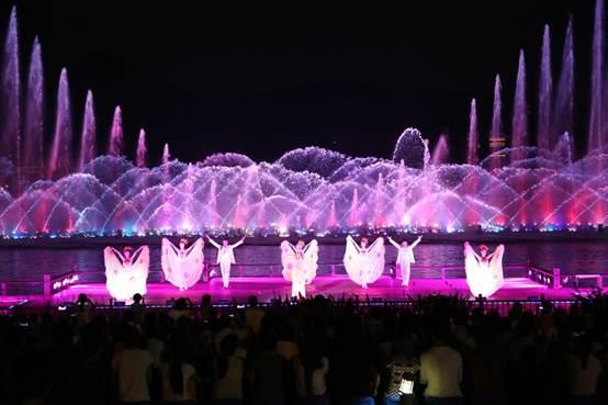 惊艳!湘湖音乐喷泉问史八千年