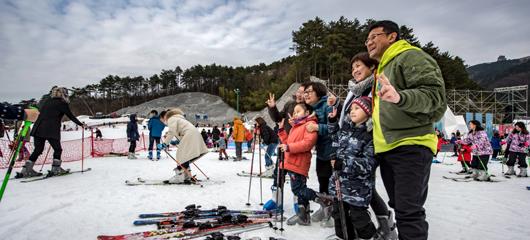 临安大明山滑雪场开门迎客