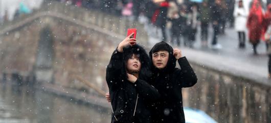 杭州又双叒叕下雪了
