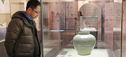 杭州展出30年前朝晖路窖藏出土元代瓷器