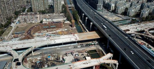 杭州望秋立交雏形初现 计划今年下半年建成