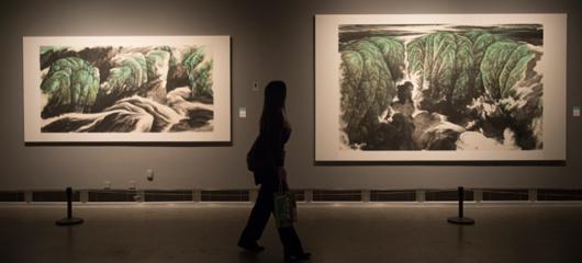 胡铁铮山水画展在浙江美术馆开幕