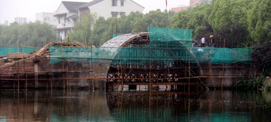 欢喜永宁桥修复现雏形