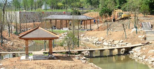 余杭:农民也爱休闲 家门口建起公园