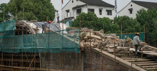杭州百年老桥修复现雏形 市民期待重走古桥
