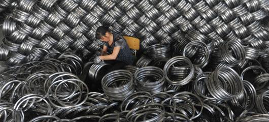 杭州企业生产忙 200万个钢圈出口海外