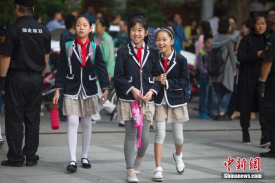 资料图:小学生。<span target='_blank' href='http://www.chinanews.com/'>中新社</span>记者 张云 摄