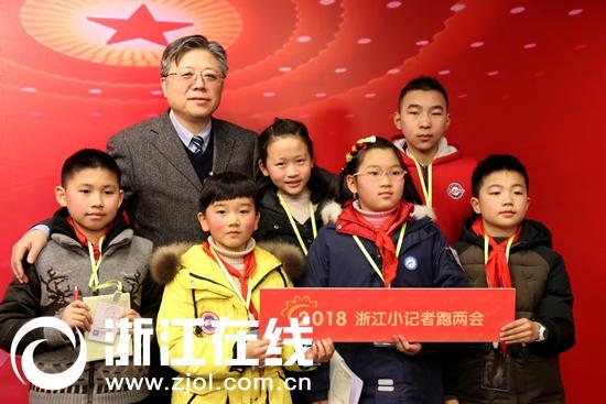 演播厅专访人大代表,小记者对话温州大学校长李校堃