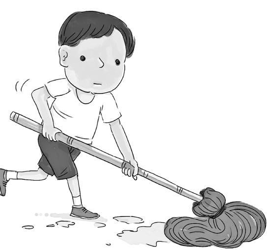 洗衣扫地整理房间 要成为学生的家庭作业图片