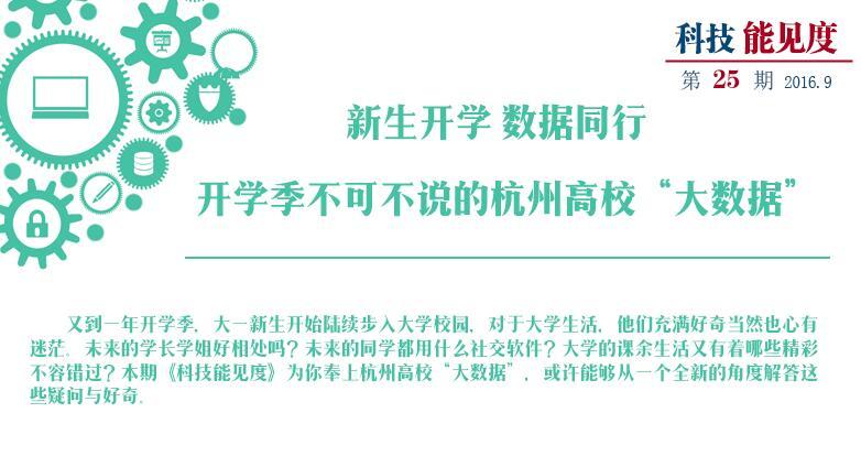 """【专题】开学季不可不说的杭州高校""""大数据"""""""
