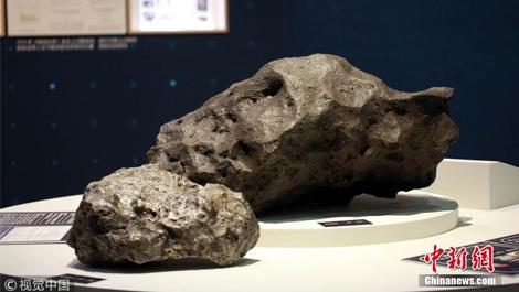 45亿岁火流星陨石亮相韦德1946手机版客户端自然博物馆