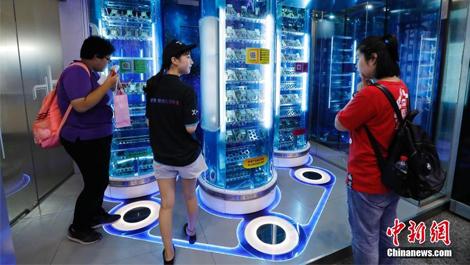 """全球首家""""X-24h智慧便利店""""亮相上海"""