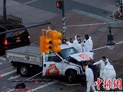 美国纽约发生恐怖袭击!卡车冲撞行人致8死,嫌犯被捕