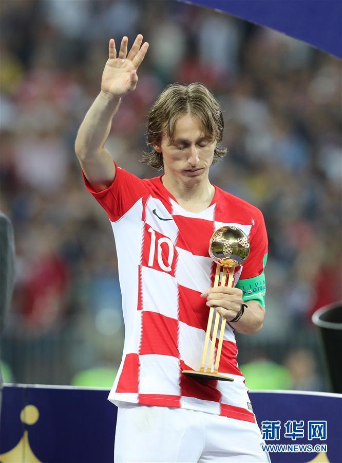 (世界杯)(10)足球——莫德里奇和姆巴佩分获金球奖和最佳新秀奖