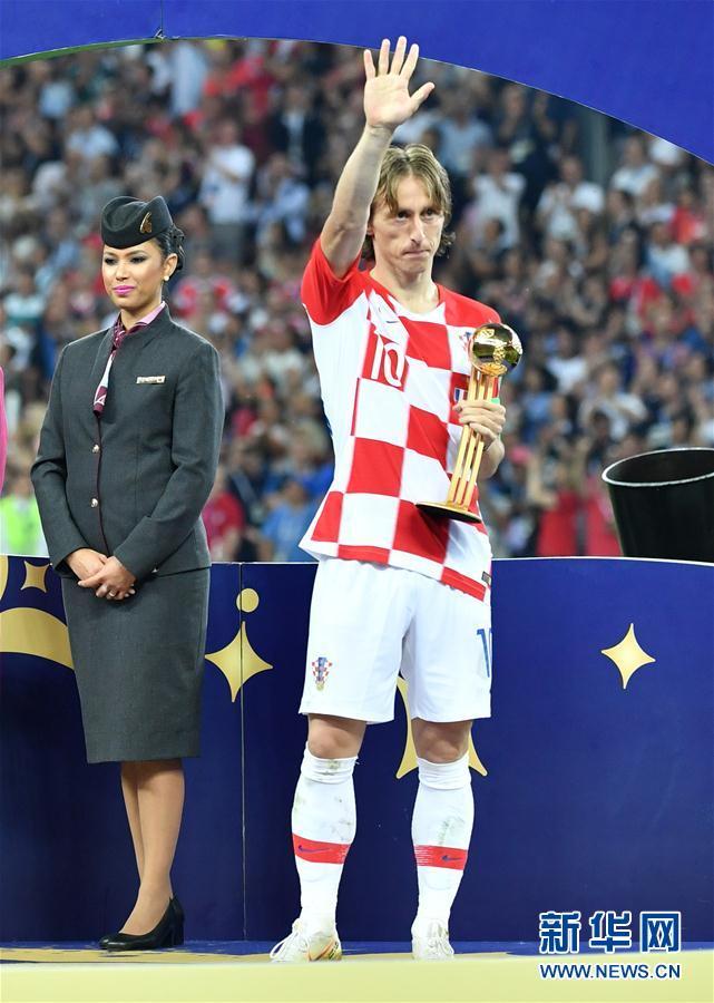 (世界杯)(4)足球——莫德里奇和姆巴佩分获金球奖和最佳新秀奖