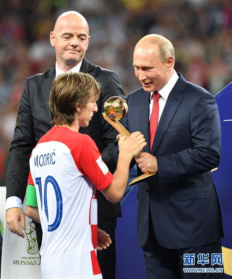 (世界杯)(5)足球——莫德里奇和姆巴佩分获金球奖和最佳新秀奖