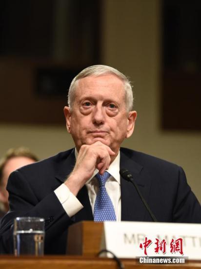 资料图片:美国国防部长詹姆斯·马蒂斯。
