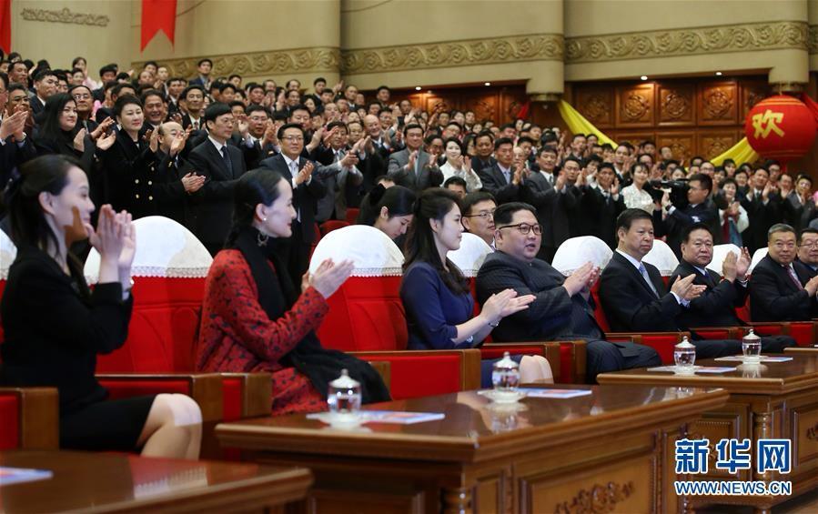 (XHDW)(1)金正恩观看中国艺术团演出芭蕾舞剧《红色娘子军》