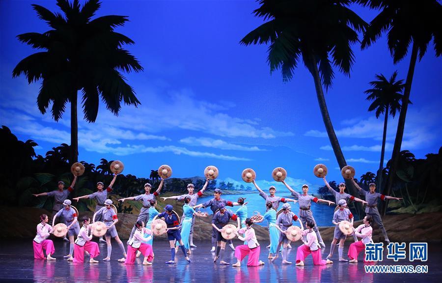 (XHDW)(3)金正恩观看中国艺术团演出芭蕾舞剧《红色娘子军》