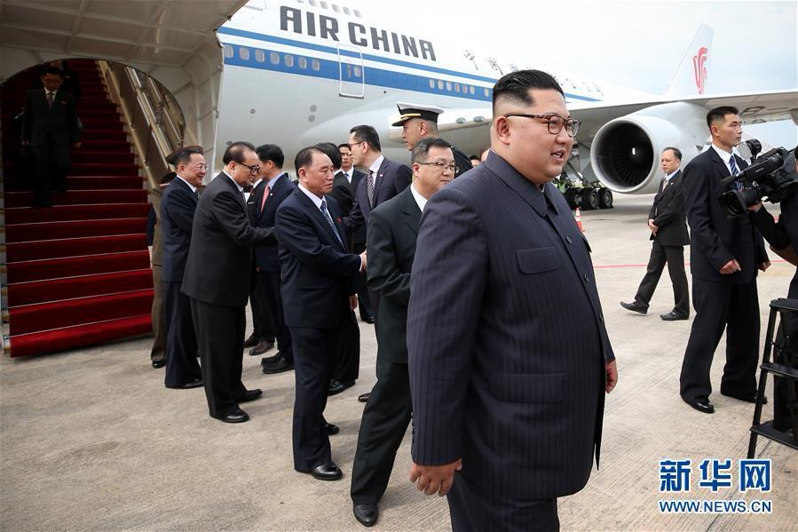 (国际)金正恩抵达新加坡