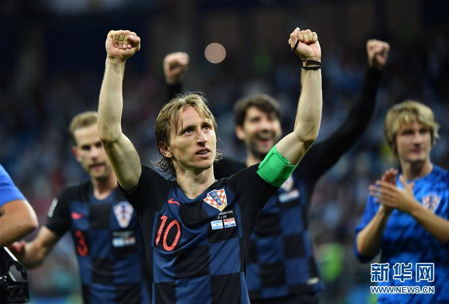 (世界杯)(2)足球――D组:克罗地亚队击败阿根廷队