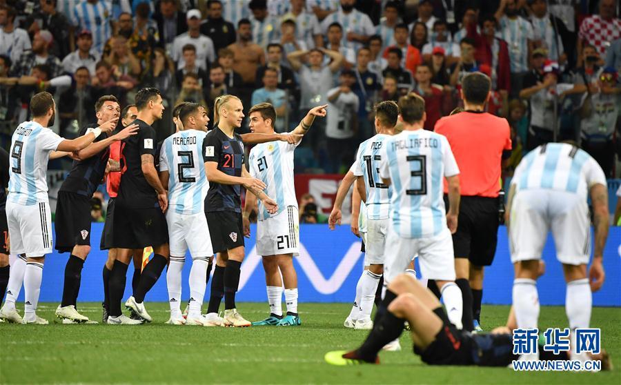 (世界杯)(1)足球――D组:克罗地亚队击败阿根廷队