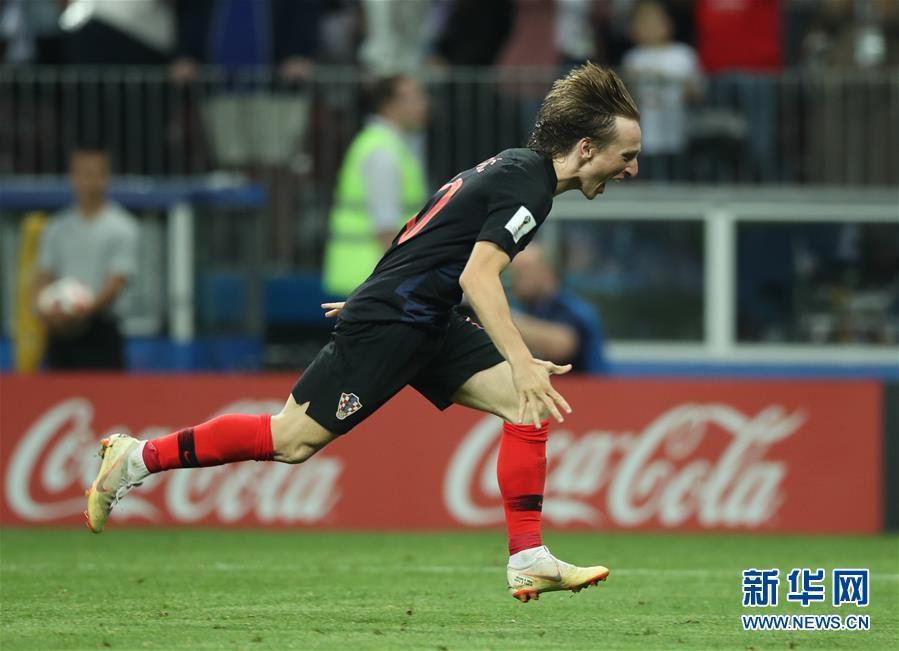 (世界杯)(1)足球——克罗地亚队淘汰英格兰队 首进决赛