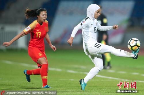 图为中国女足球员古雅莎。 图片来源:Osports全体育图片社
