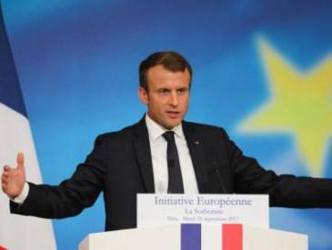 """马克龙""""重建欧洲""""计划:在2024年建成可与中美匹敌的欧洲"""