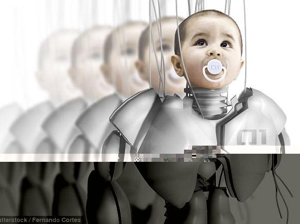 """天方夜谭?百年后人类将与机器人生下""""混血儿"""""""