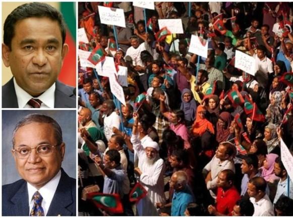 马尔代夫突发政治风暴 前总统加尧姆被捕 全国实行15天紧急状态