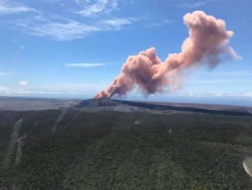 """夏威夷火山爆发 火山灰看起来还有点""""少女心""""?"""