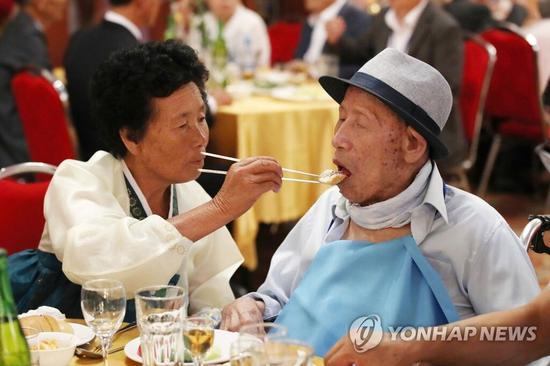时隔半个世纪的再见面 朝韩离散家属第二轮团聚活动举行