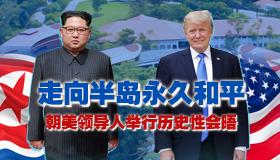 朝美领导人举行历史性会晤