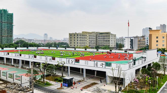 台州首座空中环形操场跑道投入使用