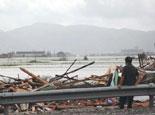台风过后的沿海公路