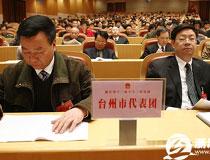 台州代表团听取报告
