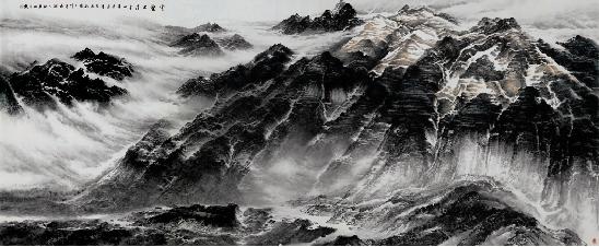 传统山水的精妙,还是把西画的原理和现代艺术的图片