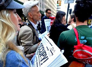 """""""占领华尔街""""举行一周年示威活动"""