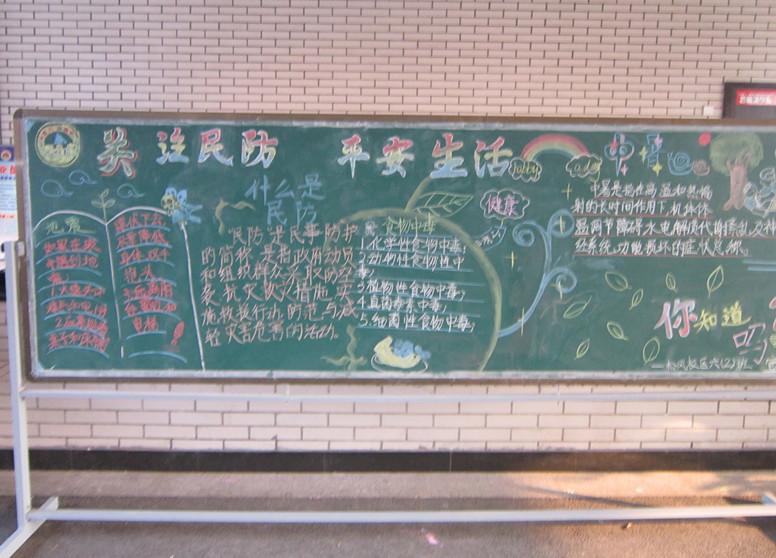 小学生防震黑板报图片