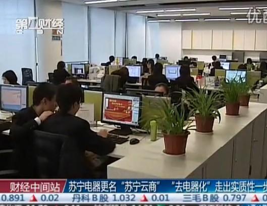 """苏宁电器更名""""苏宁云商"""""""