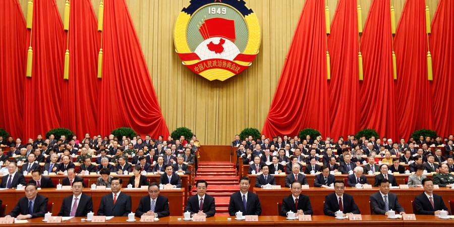 胡锦涛、习近平等国家领导人出席政协开幕会。