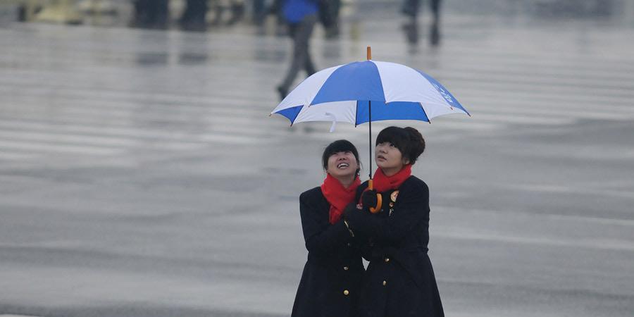 北京下雨了