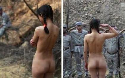 抗日剧中惊现裸女