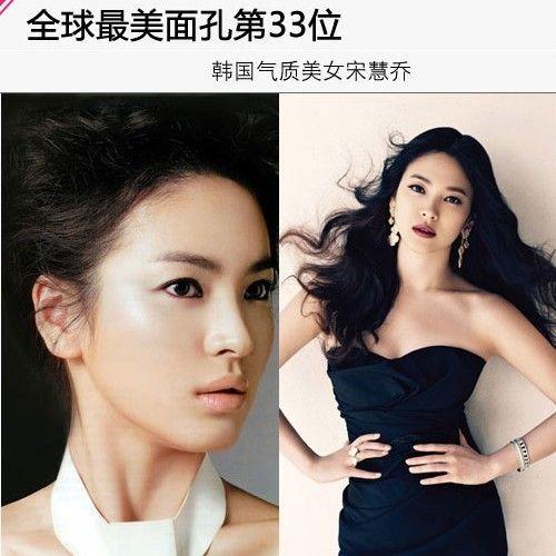 全球最美面孔第33位:宋慧乔-韩国女星发型领衔 夺亚洲最美面孔
