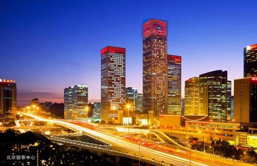 图为:北京银泰中心,