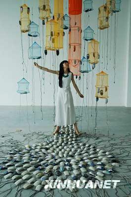 """环保装置艺术作品_""""变废为美"""" 现代装置艺术展-环保频道-浙江在线"""