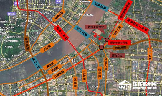 实地探访图片 正文                奥体博览城毗邻杭州萧山国际机场图片