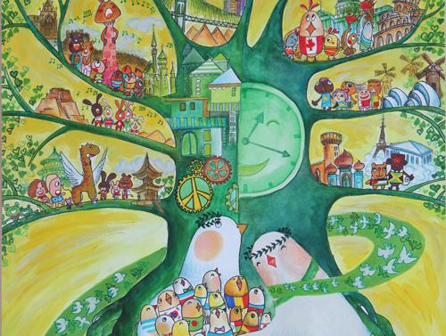 【备】第二届全国少儿世界和平海报大赛图片